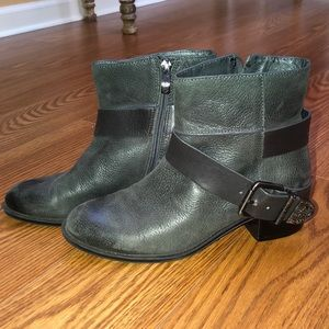 Vince Camuto distressed booties